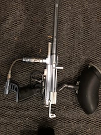 gray and black paintball marker