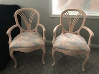 2 chairs $35 each. Multi color. Pink peach blue grey. Rarely used.  Douglassville, 19518
