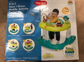 Tiny love 4in1 baby walker ,bouncer,push toy and activity table