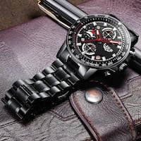 Brand New 3ATM CHRONO watch - Genuine Leather-shipping available  Ajax, L1S 0C8