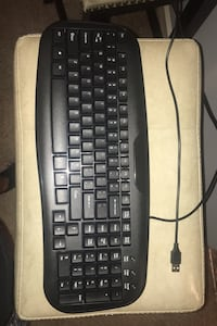 Keyboard with cable