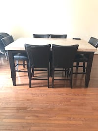 rectangular brown wooden table with six chairs dining set Annandale, 22003