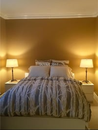 Like New Queen Bedroom Set - 1 bed frame and 2 night stands with optional mattress San Diego, 92120