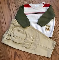 NEW Little Me 2 Piece Long Sleeve Sweater Pant Set Boys 9 Months Chicago, 60611
