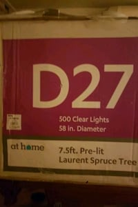 7.5 pre lit Laurent spruce tree Indianapolis, 46201