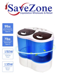 New- Costway Portable Mini Washing Machine Compact Twin Tub 15.4lbs Washer Spinner Mississauga