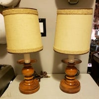 """Pair of MCM Table Lamps 12"""" & Shades Toronto, M6N 3S4"""
