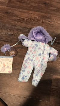 American Girl Bitty baby snow suit.