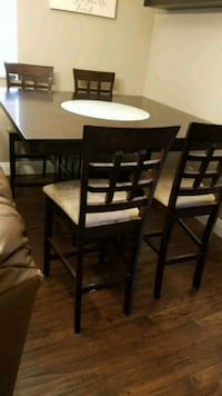 Pub table 4 chairs bottom table has storage space North Las Vegas, 89031