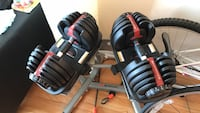 Bowflex SelectTech 552 adjustable dumbbells with stand Chicago, 60614