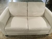 white leather loveseat WESTPALMBEACH