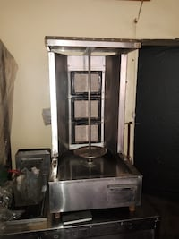 Shawarma Burger Stand Stainless Steel Machines and Gas Deep Fryer KARACHI