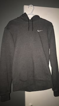 Grey nike pull over hoodie medium