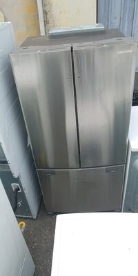 stainless steel Samsung 3-door french refrigerator Franklin Lakes, 07417