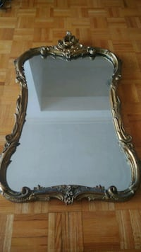 Rare original Antique mirror on wood 22k gold frame Montréal, H3H 1E1