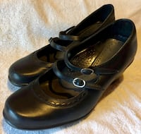 "EUC Dansko ""Josie"" Black Leather Mary Janes 448 mi"