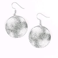 Silver round earrings New York, 10024