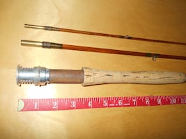 Antique vintage fly fishing rod Milward England, nice