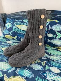 Woven UGG boots - gray size 9