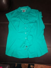 Turquoise button down dress shirt.  Worcester, 01604