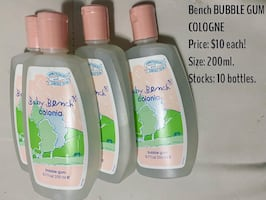 Bench bubble gum cologne $10 per bottle!