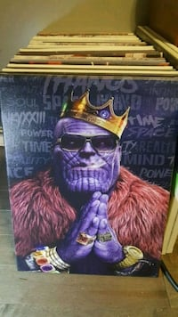 12 x 16 canvas B I G thanos marvel St. Catharines, L2N 7N6