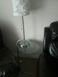 stainless steel table lamp white lampshade Hamilton, L0R 1W0