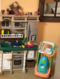white, green, and brown kitchen play set Houston, 77083