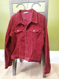 red leather zip-up jacket 475 km