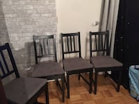 4 ikea chairs with chair pads Toronto, M6M 2E6