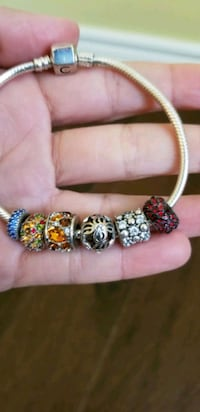 Charm Bracelet with 6 charms