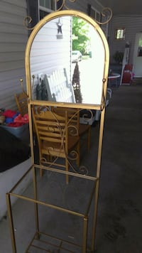 brown wooden framed glass top table Miamisburg, 45342