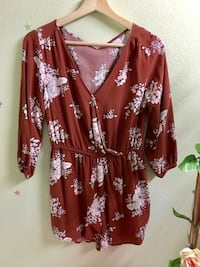 women's brown and white floral dress Santa Ana, 92704