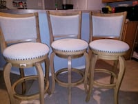 four brown wooden framed white padded chairs White Settlement, 76108