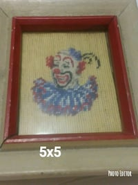 Antique needle point clowns framed Bowling Green, 42101