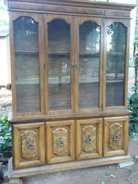 brown wooden framed glass display cabinet Paradise, 95969