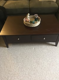 """Dark brown coffee table, 48""""x 28 1/2"""" from Raymour & Flanagan Dix Hills, 11729"""
