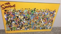 The Simpsons character painting