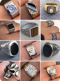 assorted silver and gold rings collage Huntington Station, 11746