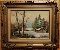 Vintage Oil on Canvas, ornate frame, signed Toronto, M2N 5W4