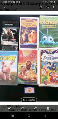 6 Spanish Disney VHS tapes Plus leapstart Disney card