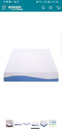 "New in box 10"" full gel memory foam mattress Bakersfield, 93308"