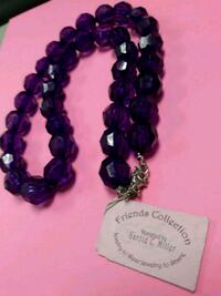 Gorgeous Looking Designer Purple Colored Necklace!
