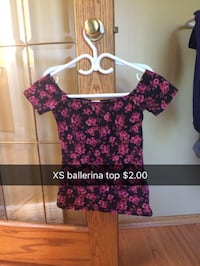 women's red and black floral blouse Calgary, T2X 3G5