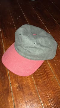 Gray and pink fitted cap 692 mi