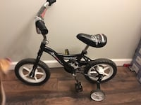 toddler's black bicycle with training wheels Columbia, 21044