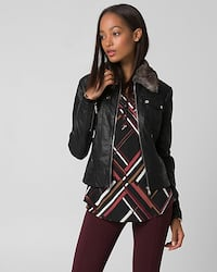 BNWT Le Chateau Leather Jacket - size XS Vancouver