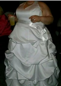 Wedding dress w/slip