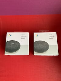 Google Home Mini (Charcoal) - Almost New - each $21, pair $40