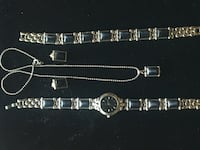 4 piece set of jewelry: watch, bracelet, necklace and earrings Vaughan, L6A 3S1
